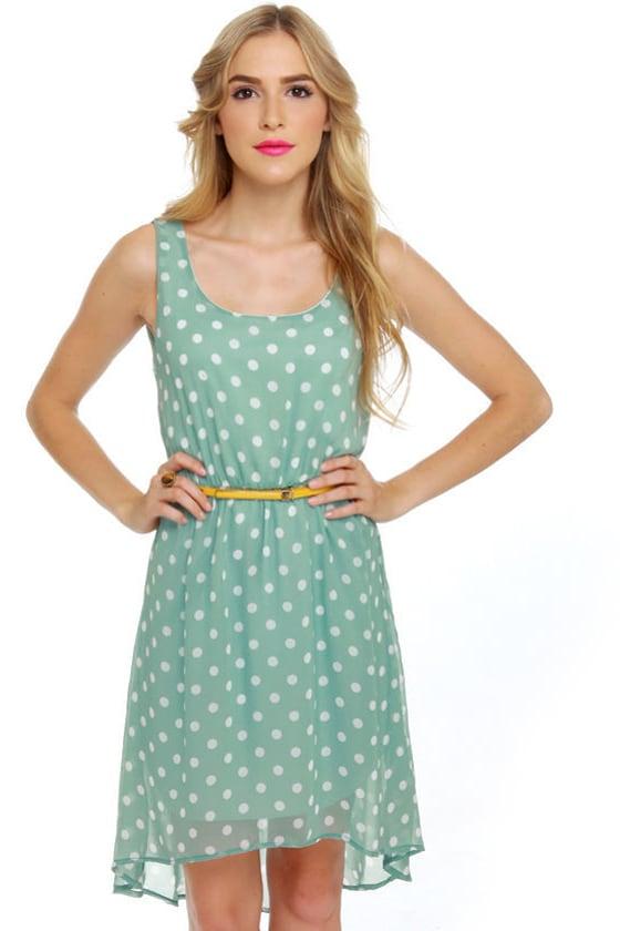 Southern Hospitality Light Blue Polka Dot Dress