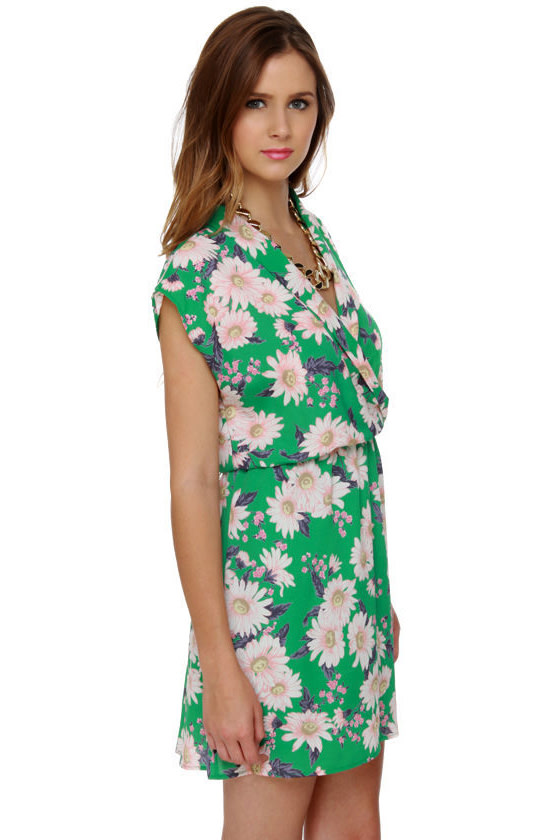 Coming Up Daisies Green Floral Print Dress at Lulus.com!