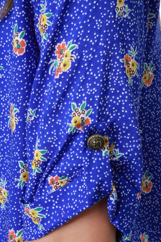 Freshly Picked Blue Floral Print Shift Dress at Lulus.com!