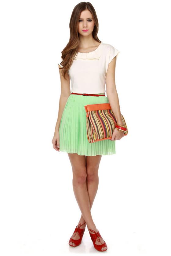 Jill Frost Mint Green Mini Skirt
