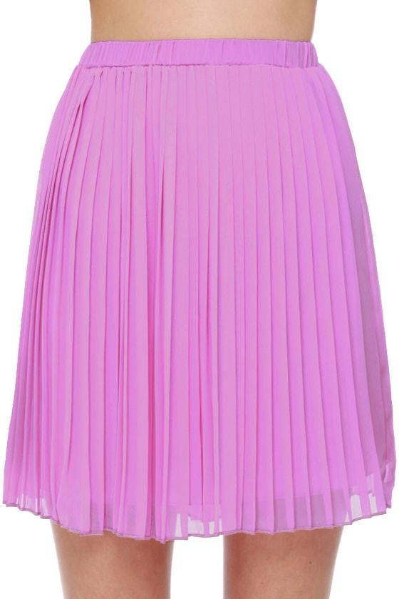 Jill Frost Lavender Mini Skirt