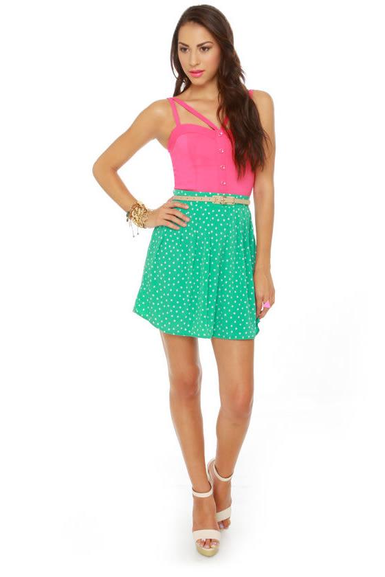 Chick-let's Dance Mint Green Mini Skirt
