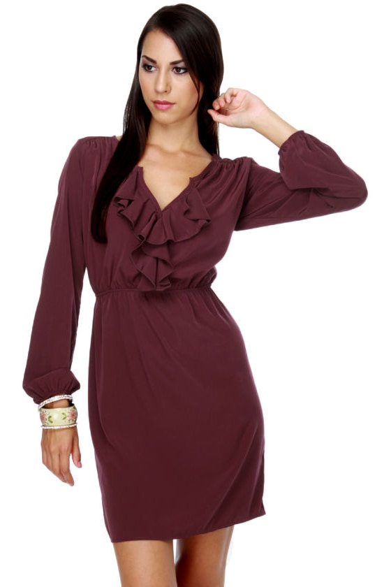 Woman of the Year Burgundy Dress