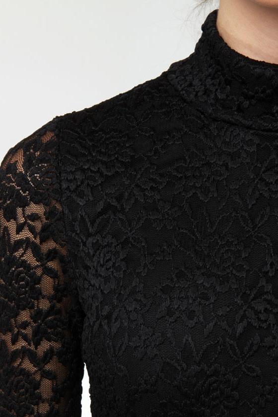 Moondance Black Lace Dress