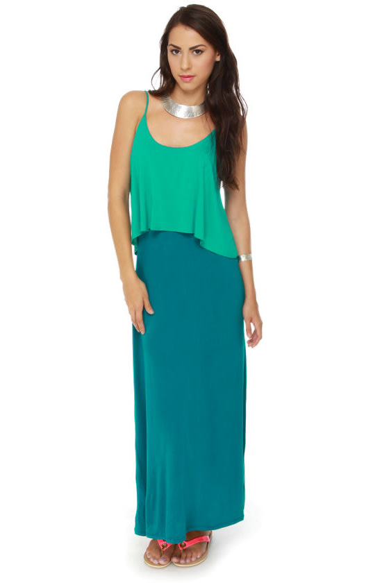 Made in the Shades Teal Maxi Dress