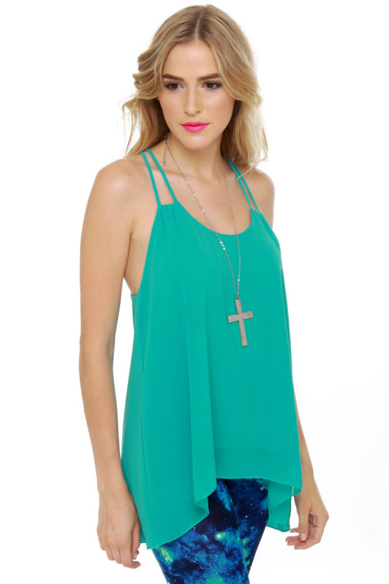 Tanks a Lot Turquoise Tank Top