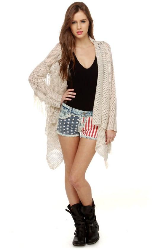 Gypsy Junkies Liberty Flag Print Shorts
