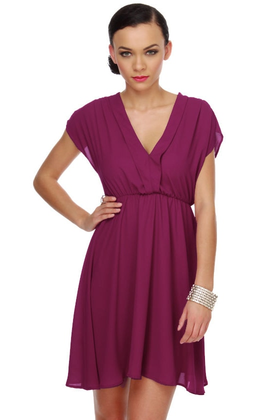 Ladies Who Lunch Magenta Dress