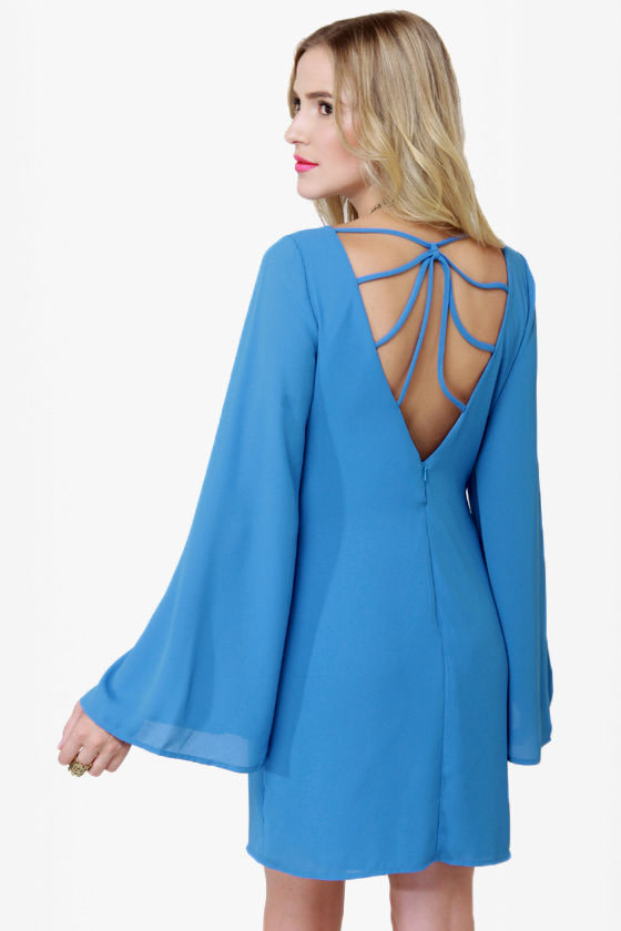 Polyphonic Spree Backless Blue Dress at Lulus.com!