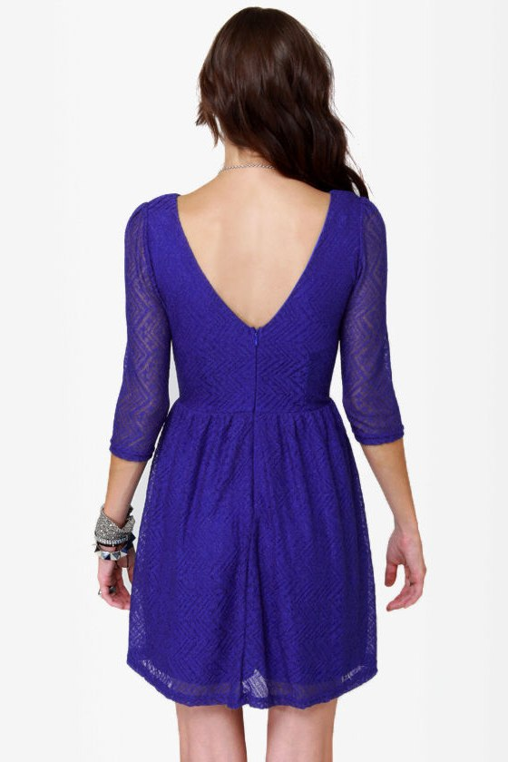 Going Steady Lacy Blue Dress