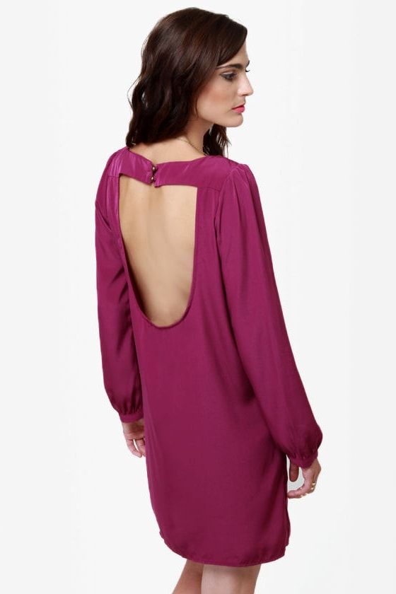 Set the Stage Backless Purple Dress