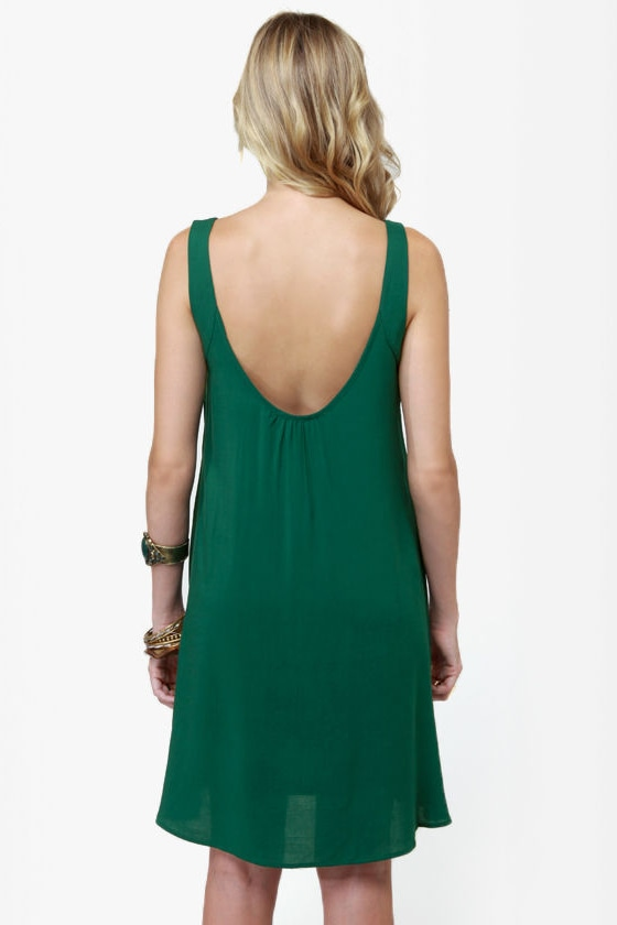 The Real Deal Hunter Green Dress at Lulus.com!