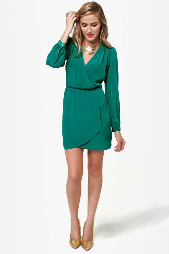 Green Long Sleeve Dress