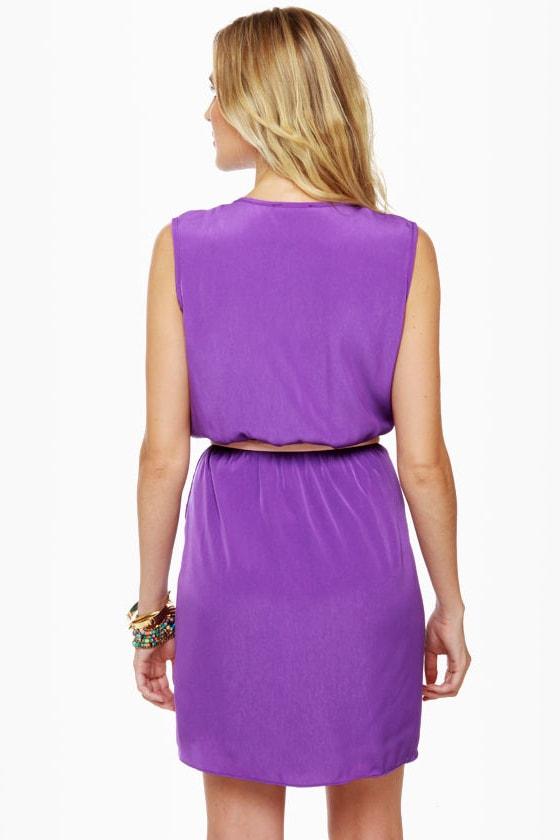 Mind the Wrap Sleeveless Purple Dress at Lulus.com!