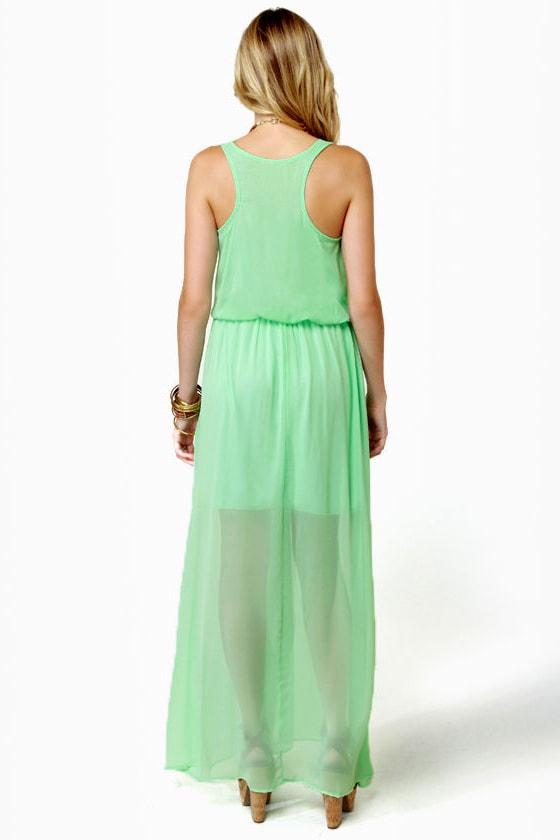 Mount Olympus Mint Green Maxi Dress