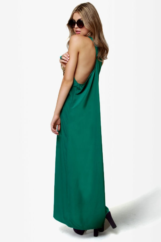 Give \\\\\\\\\\\\\\\\\\\\\\\\\\\\\\\'em the Slip Teal Maxi Dress