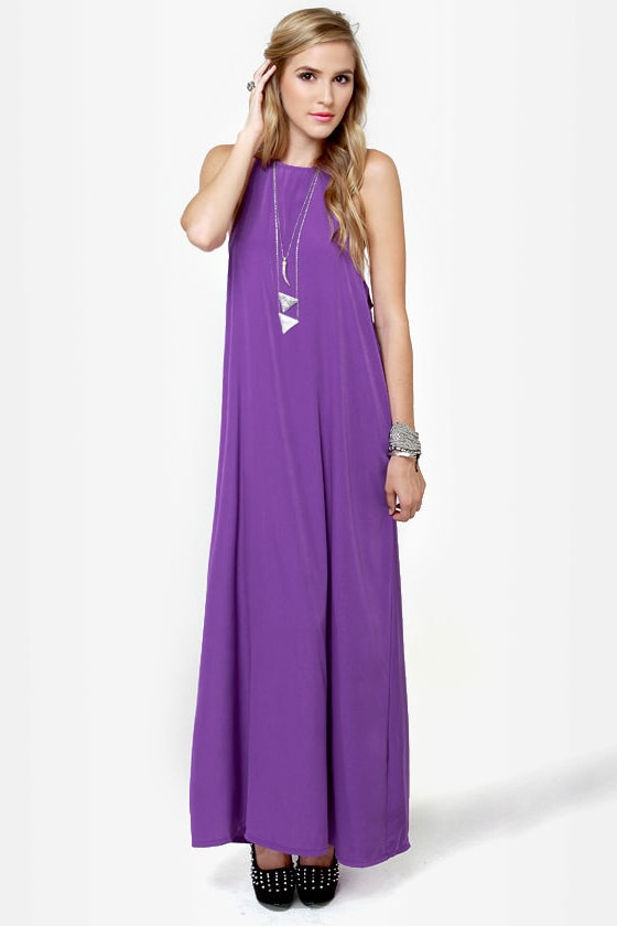 Give 'em the Slip Purple Maxi Dress at Lulus.com!