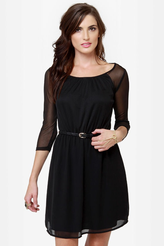 Rest A-Sheer-ed Black Dress