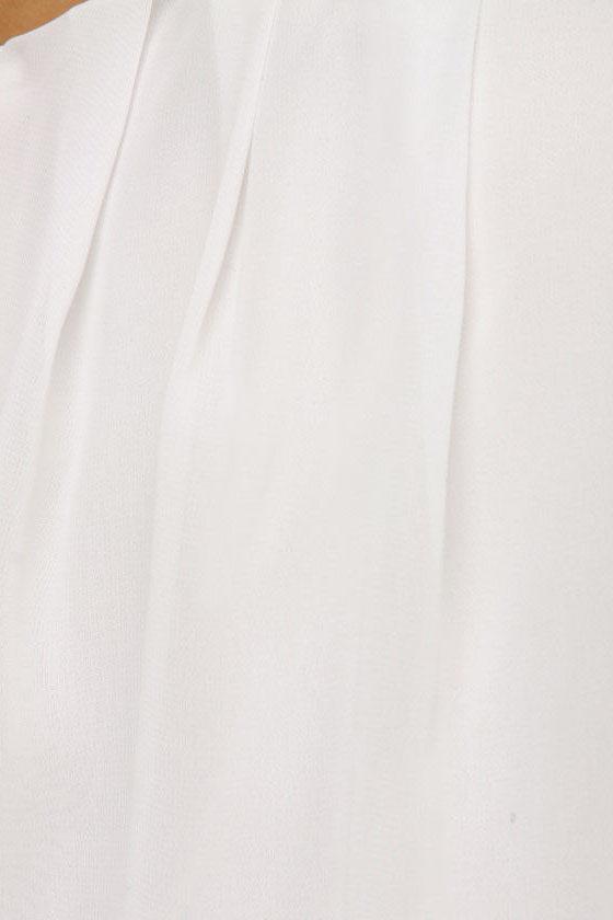 Sunup One Shoulder Ivory Dress