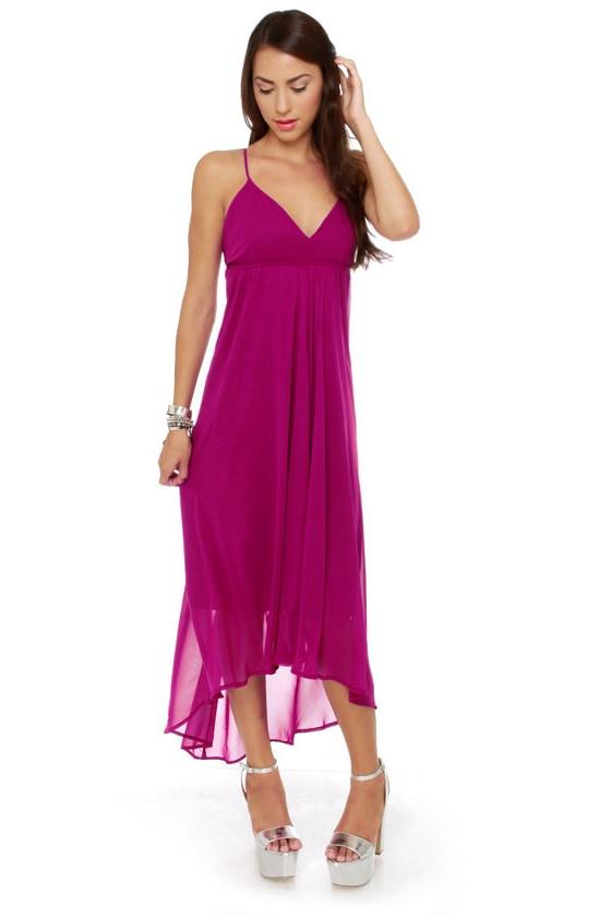 Everlasting Love High-Low Magenta Dress