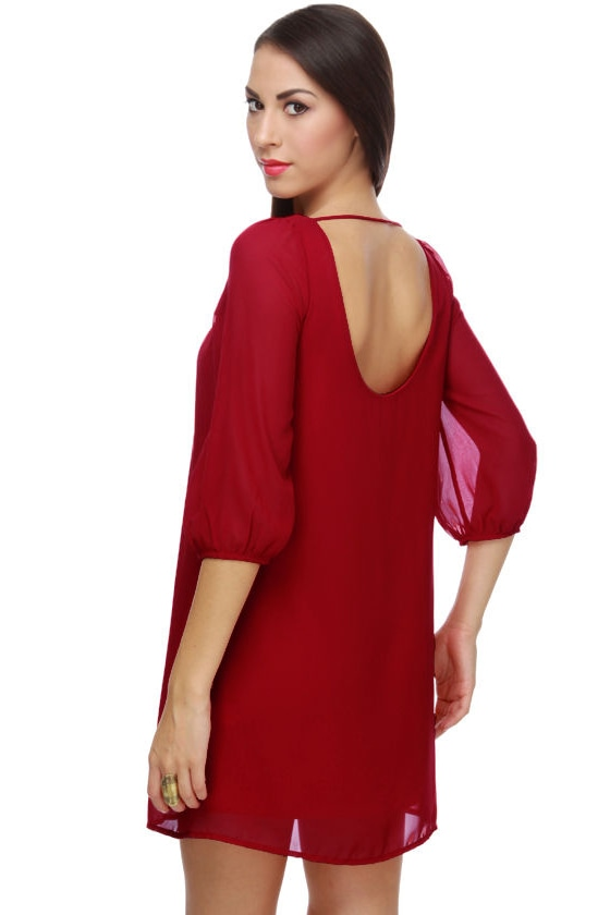Dame Eventide Red Dress