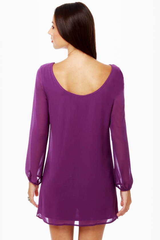 Dinner for Two Purple Shift Dress at Lulus.com!