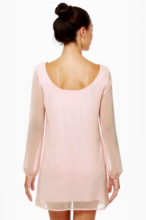 Dinner for Two Light Pink Shift Dress at Lulus.com!