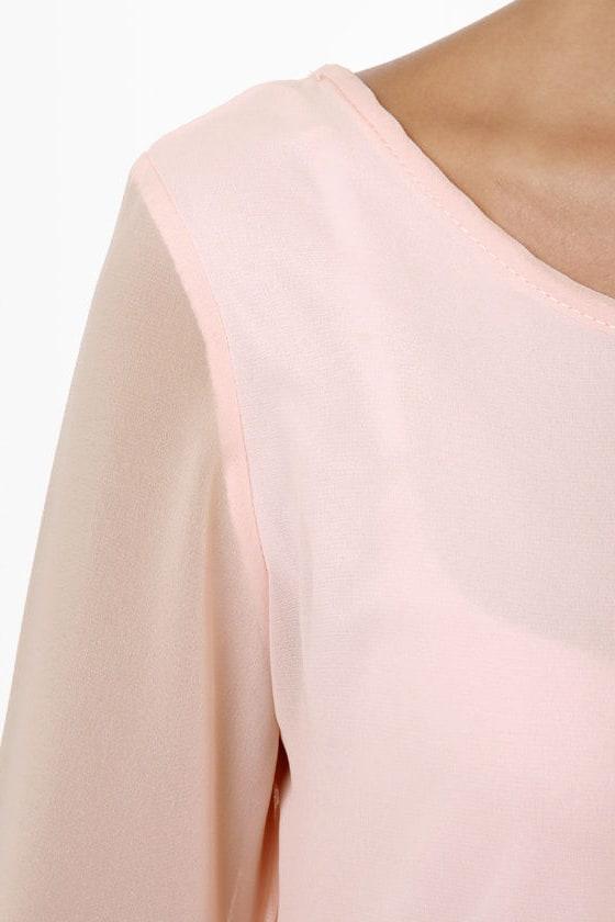 Dinner for Two Light Pink Shift Dress