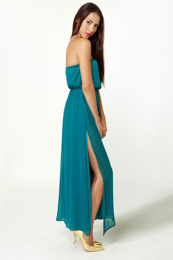 Who's Who Teal Maxi Dress at Lulus.com!