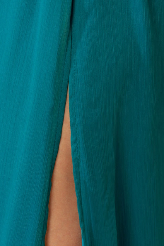 LULUS Exclusive Who\\\\\\\\\\\\\\\\\\\\\\\\\\\\\\\'s Who Teal Maxi Dress