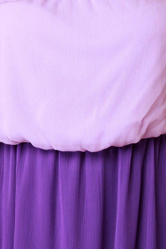Who's Who Lavender and Purple Maxi Dress at Lulus.com!
