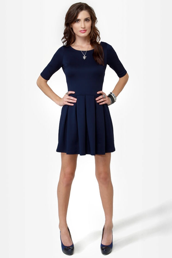 Sweet Thing Navy Blue Dress