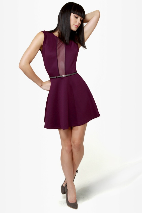 LULUS Exclusive Cut It Out Plum Purple Dress at Lulus.com!