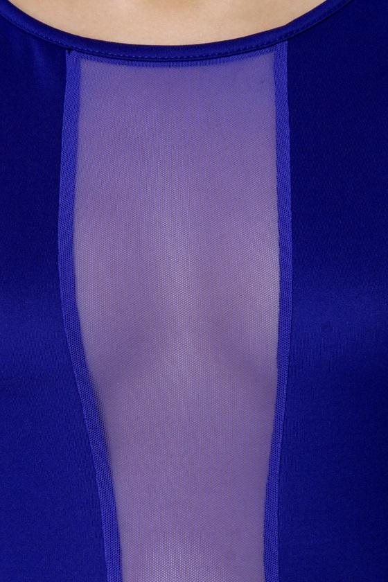Cut It Out Royal Blue Dress