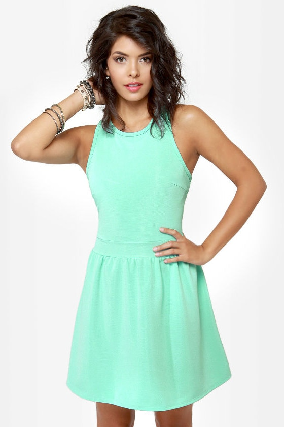 LULUS Exclusive Skater Dee Mint Green Dress at Lulus.com!