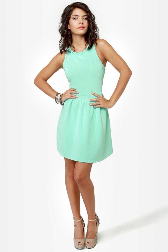 Skater Dee Mint Green Dress