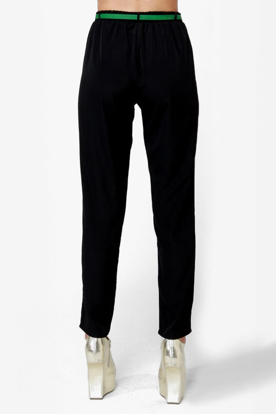 High-Waisted Hopes Black Pants