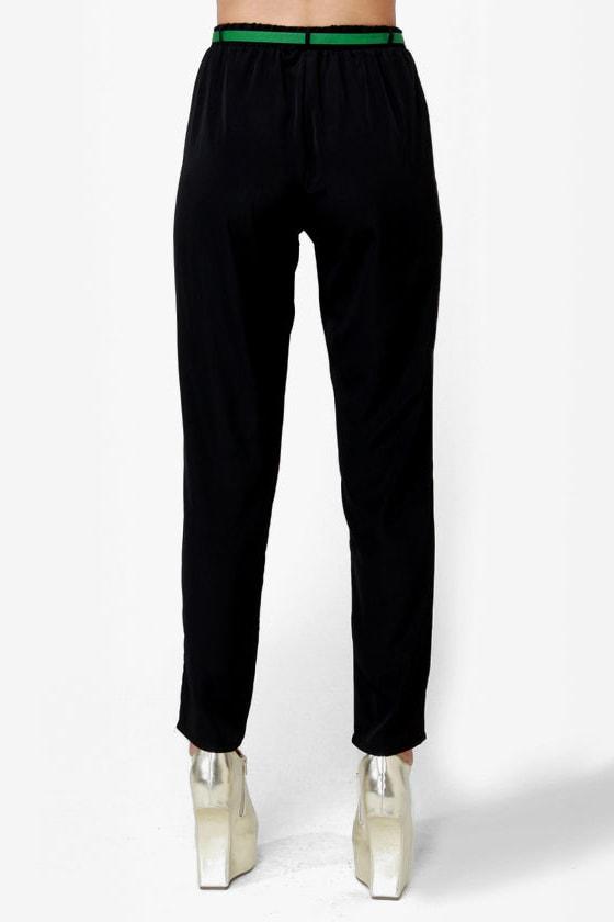 High-Waisted Hopes Black Pants