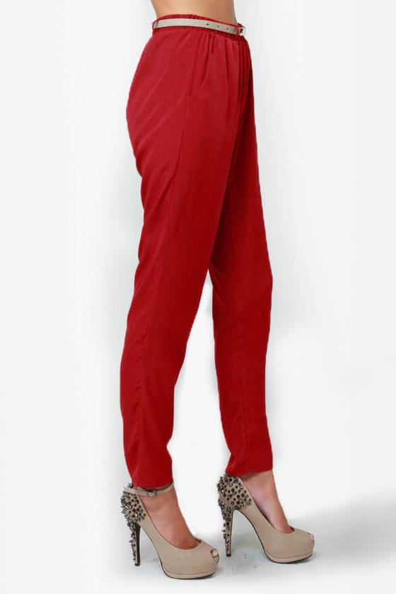 High-Waisted Hopes Red Pants
