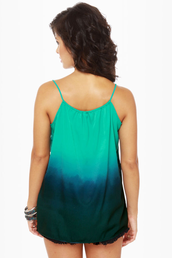 Ombre-ging Rights Teal Tank Top