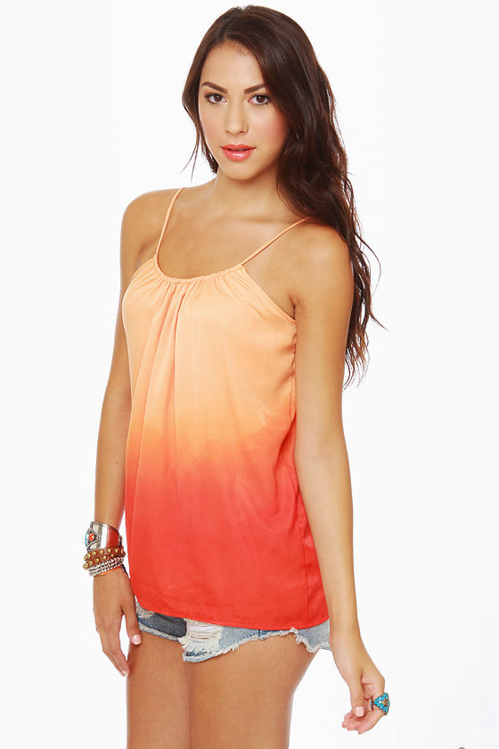 Ombre-ging Rights Orange Tank Top