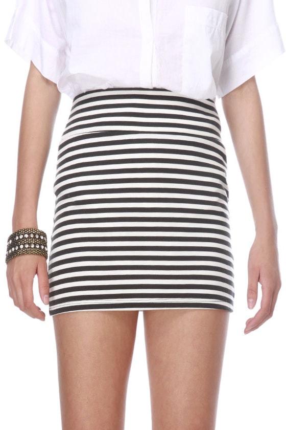 Beach Volleyball Striped Mini Skirt