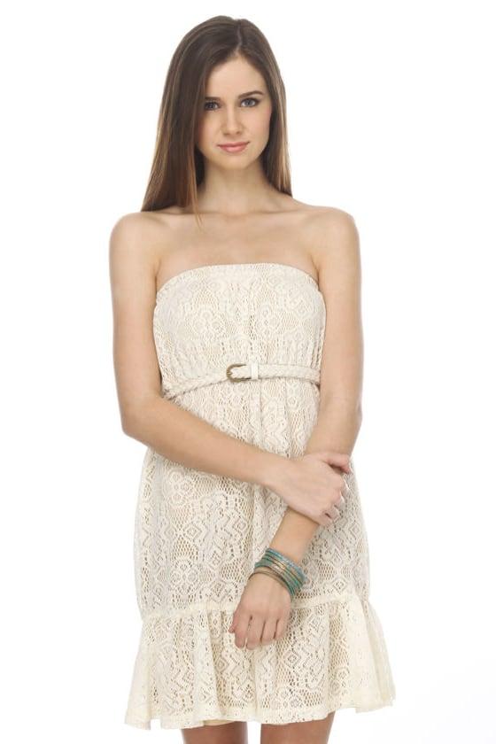 Iced Florentine Cream Lace Dress