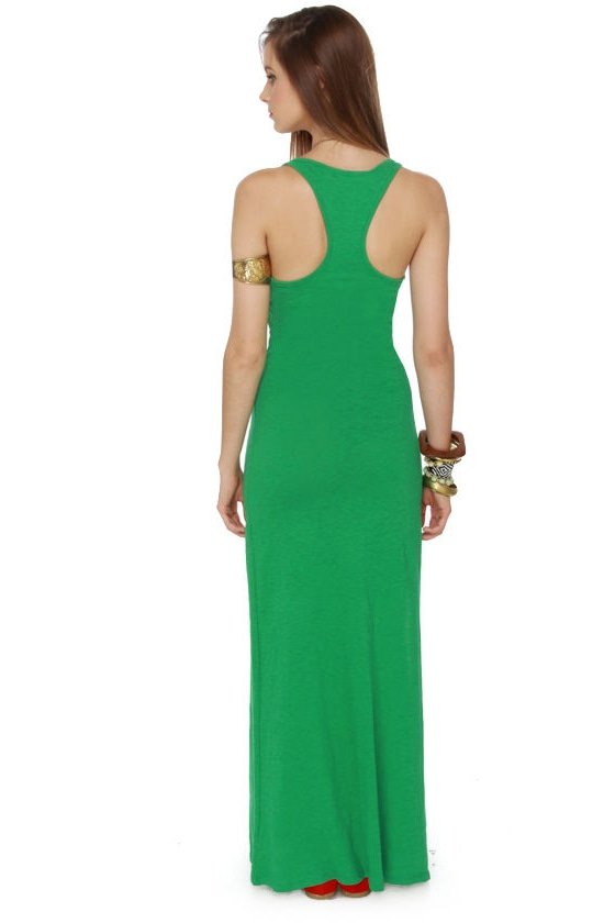 All Night Long Green Maxi Dress
