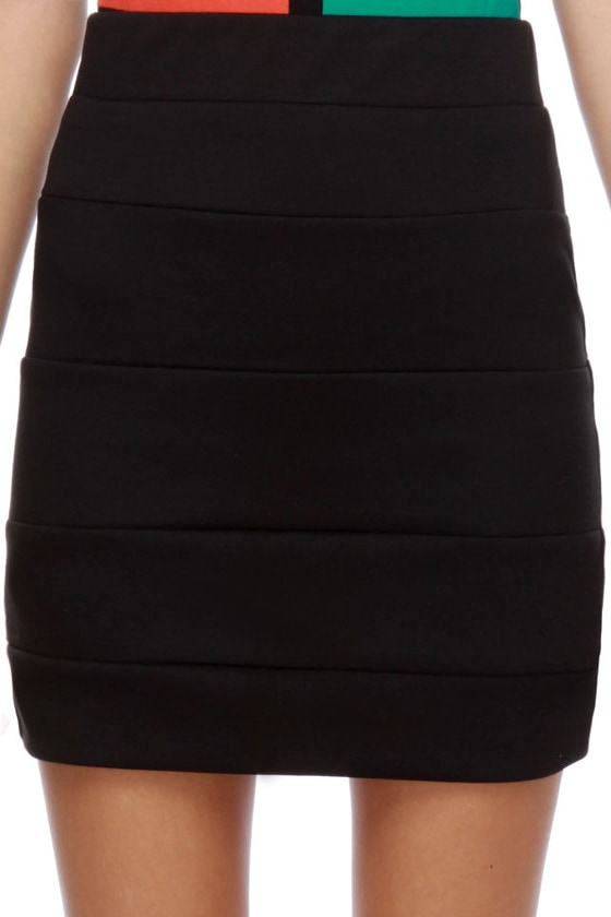 Welcome to Oz Black Mini Skirt