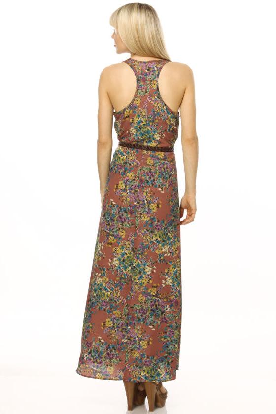Sunlit Fields Floral Maxi Dress