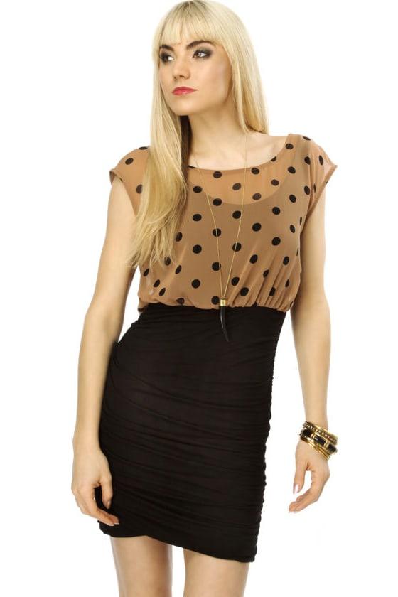 Minni's Mantra Polka Dot Black Dress