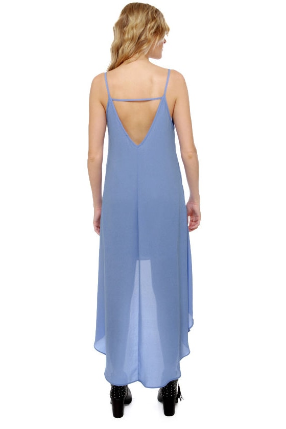Point Break High-Low Periwinkle Blue Dress at Lulus.com!