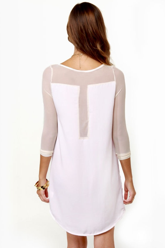 Meet Your Mesh Ivory Dress at Lulus.com!