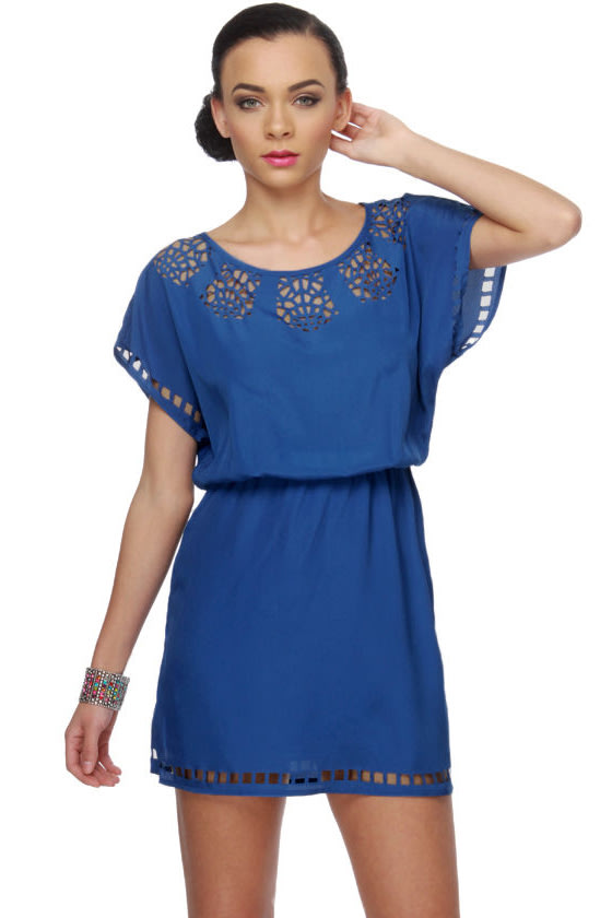 Paper Snowflake Blue Dress